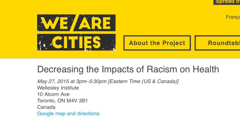 screen capture of We Are Cities website