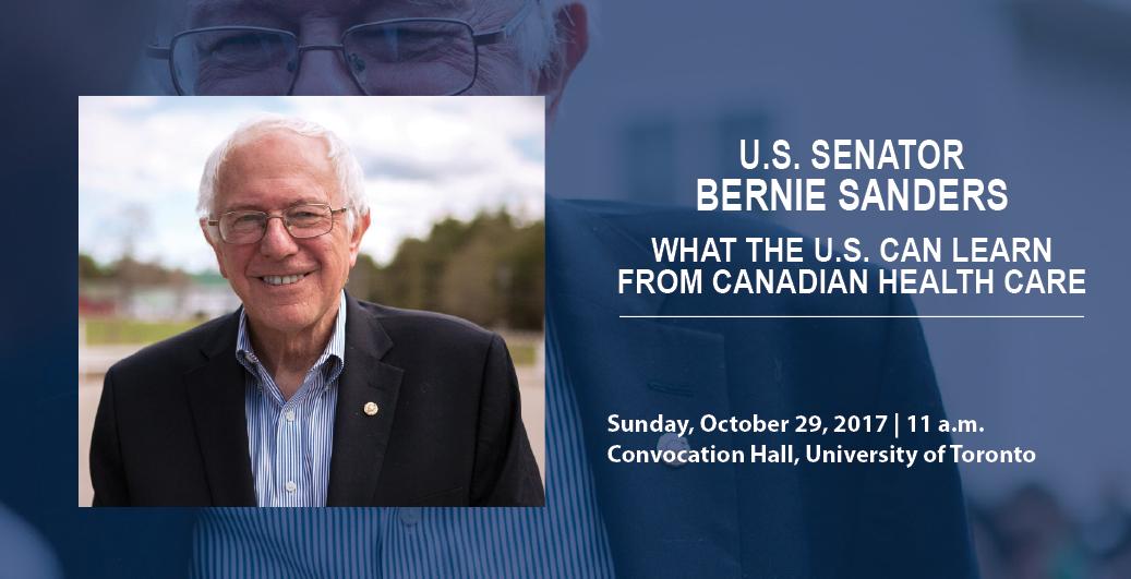 U.S. Senator Bernie Sanders event poster