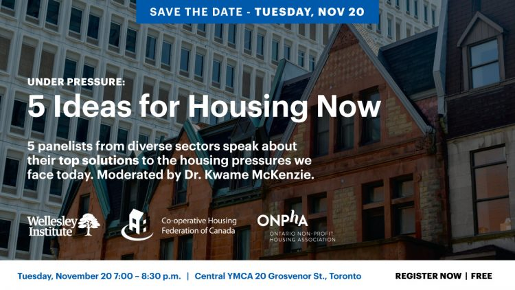 Event invitation for Tuesday, November 20 at YMCA Central called Under Pressure a Housing Panel