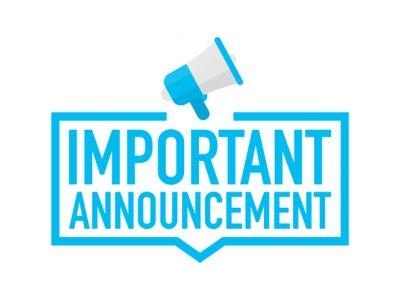 Announcement Regarding COVID-19