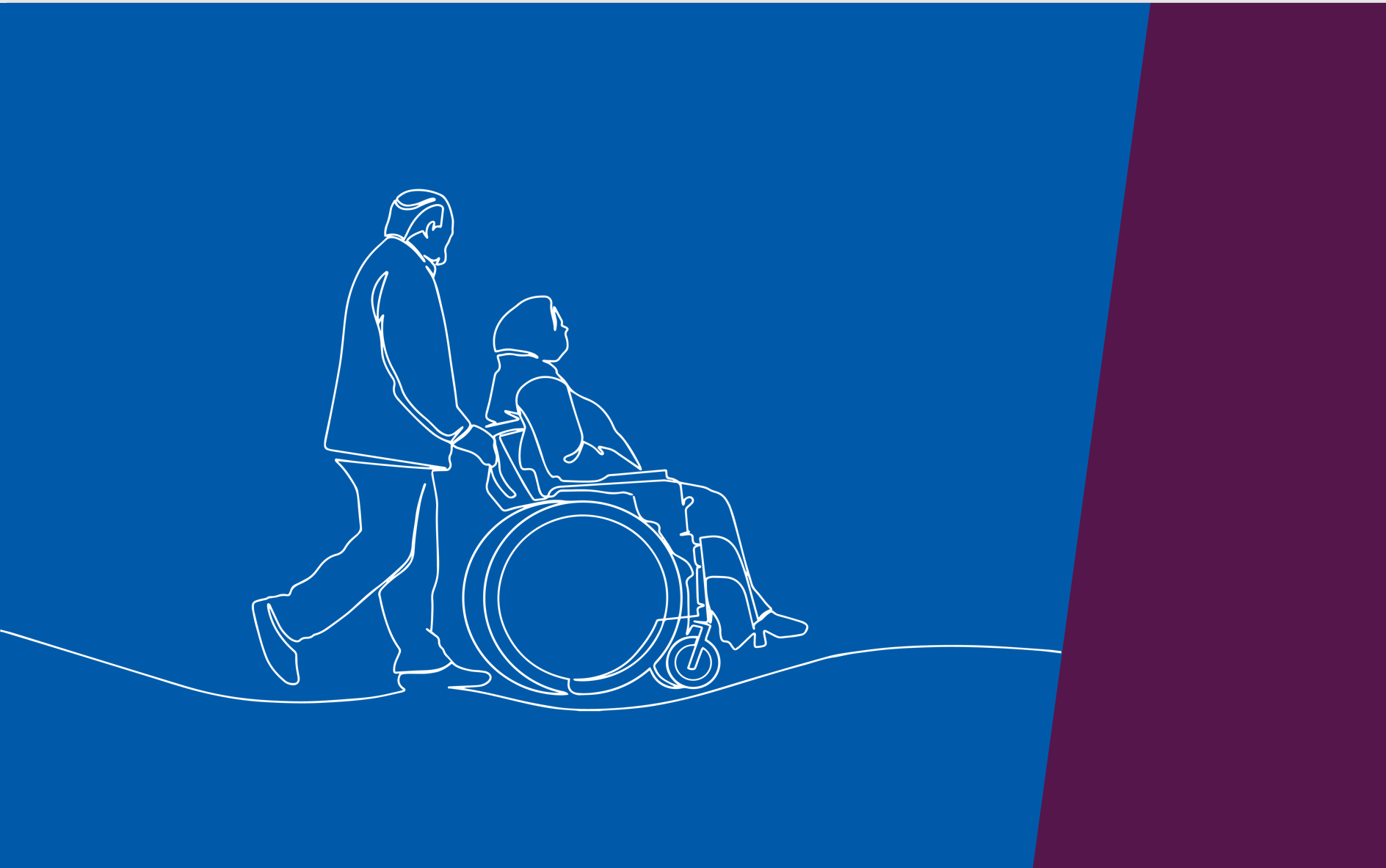 silhouettes of two seniors sitting on a blue and purple background with NIA and Wellesley Institute logos